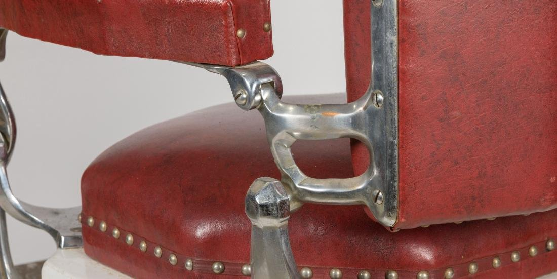 Koken Chrome and Vinyl Barber Chair - 7