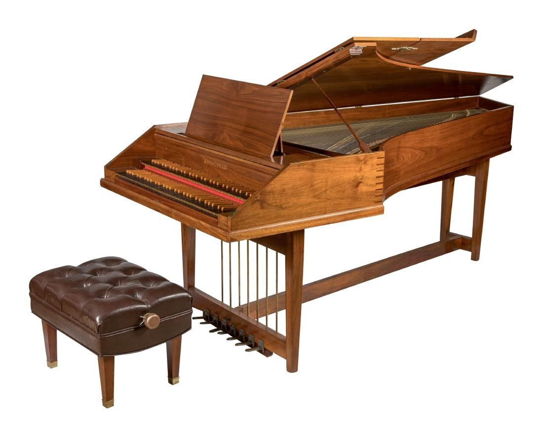 John Challis Harpsichord and Leather Bench