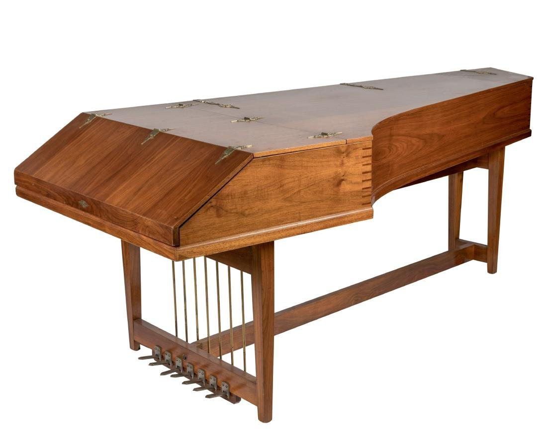 John Challis Harpsichord and Leather Bench - 2