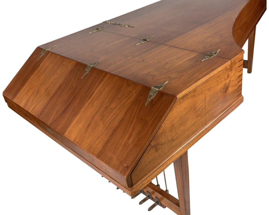 John Challis Harpsichord and Leather Bench - 3