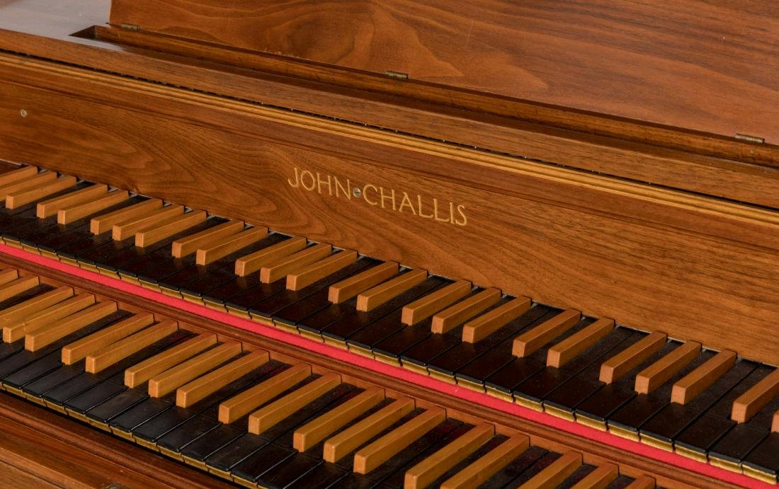 John Challis Harpsichord and Leather Bench - 4