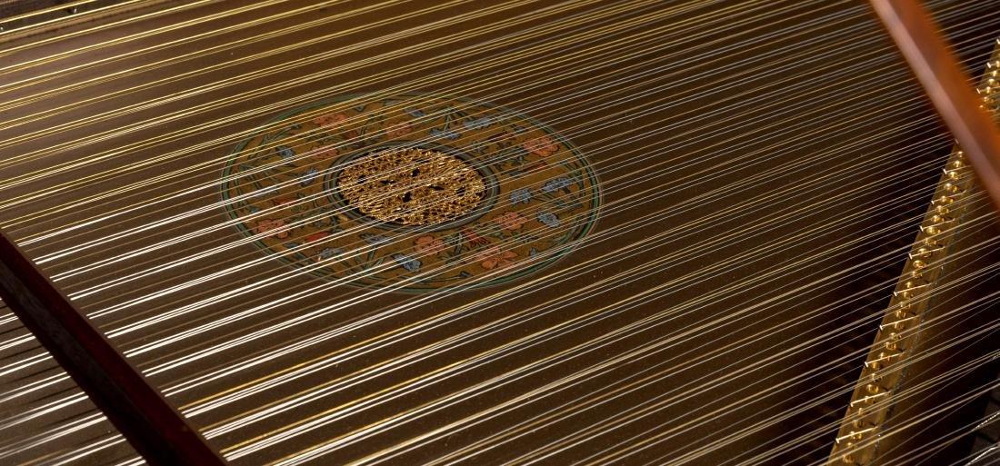 John Challis Harpsichord and Leather Bench - 5