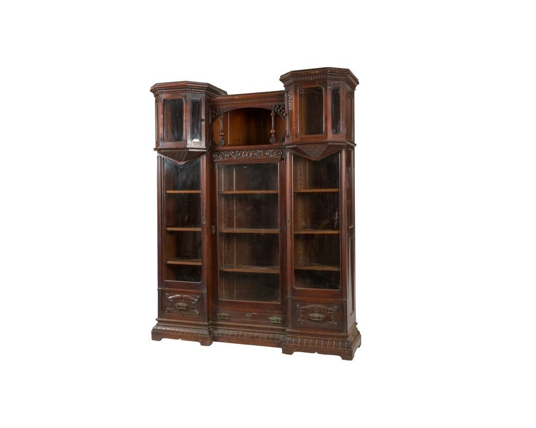 Victorian Mahogany Five Door Bookcase