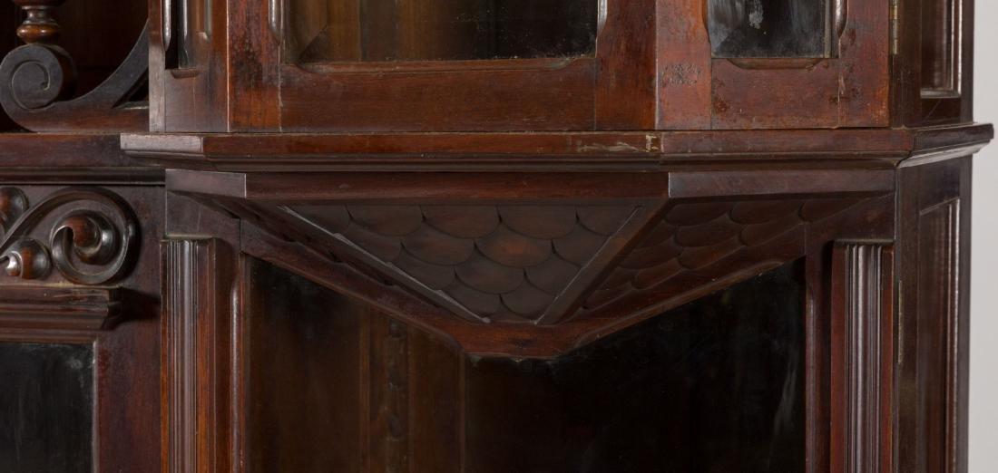 Victorian Mahogany Five Door Bookcase - 2