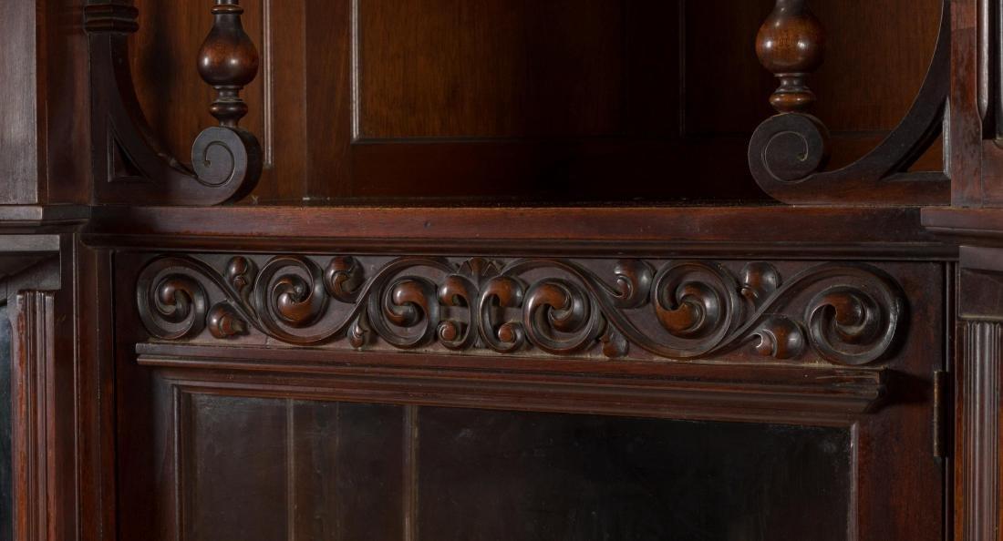 Victorian Mahogany Five Door Bookcase - 3