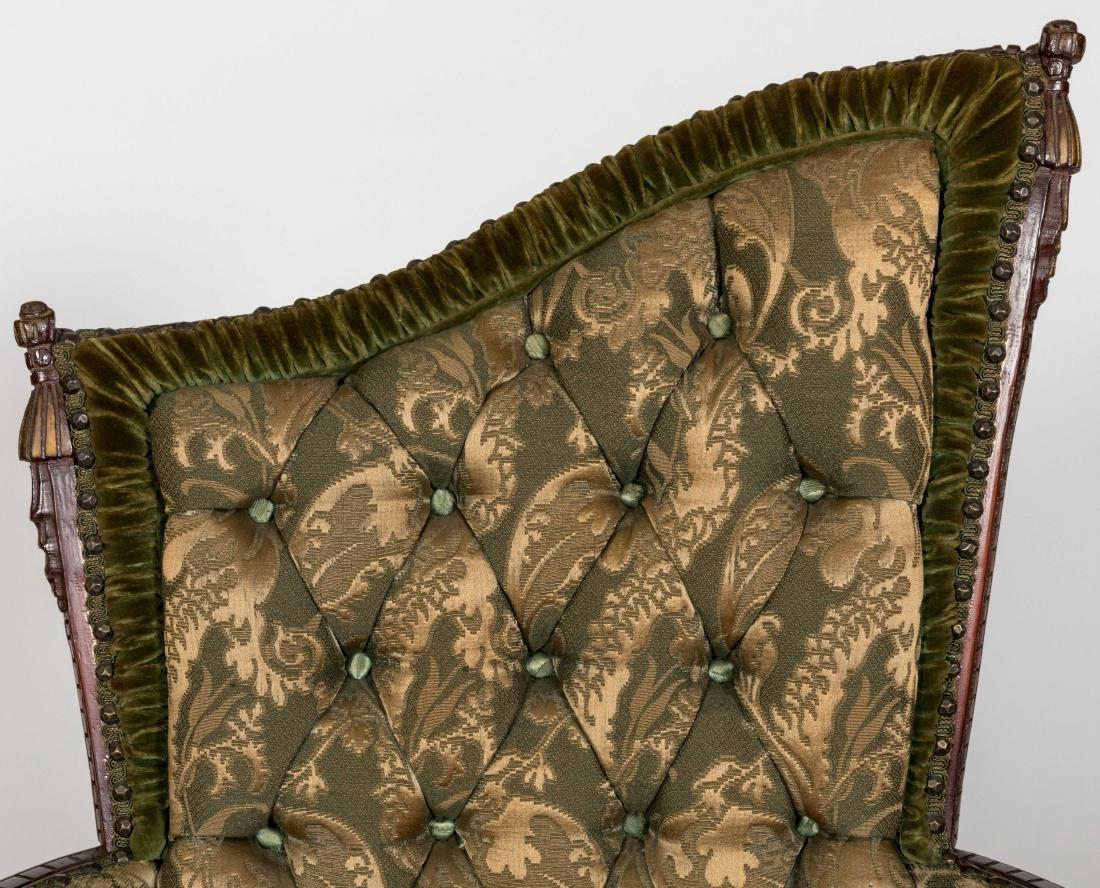 Mahogany Fireside Chairs - Pair - 2