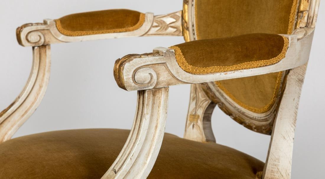 Louis XVI Style Arm Chairs - Pair - 3