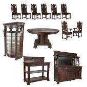 Horner Heavily Carved Dining Set - 12 Piece