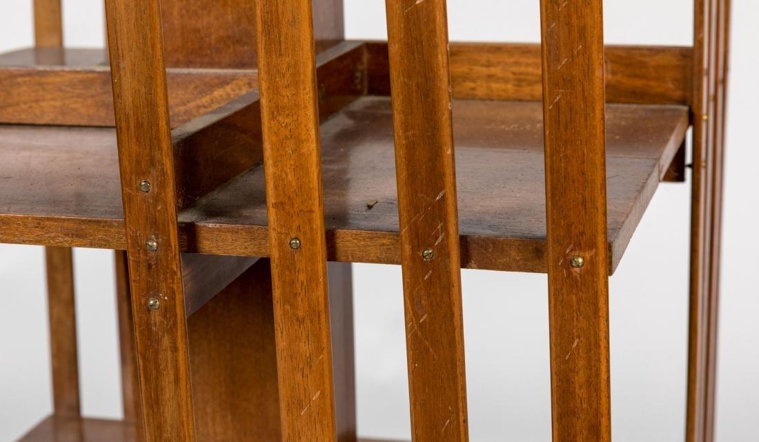 Walnut Revolving Bookcase - 4