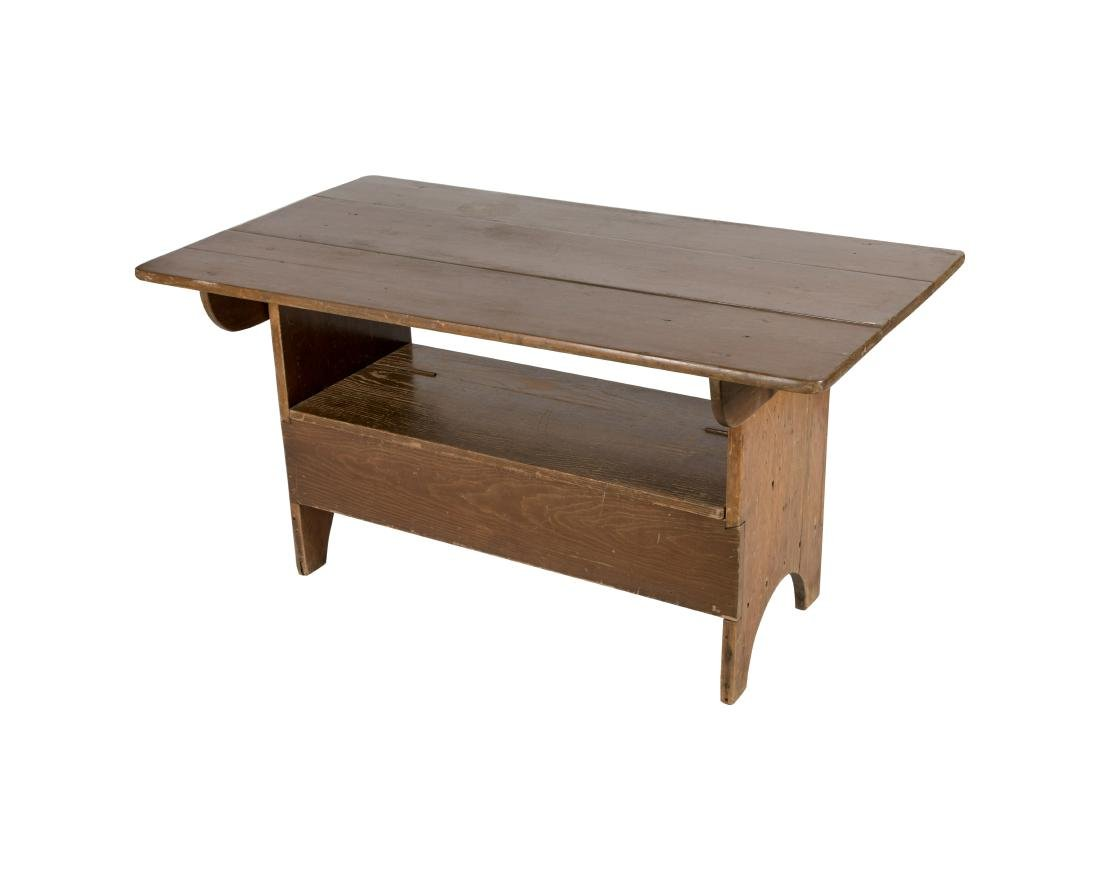Primitive Pine Hutch Table - 2