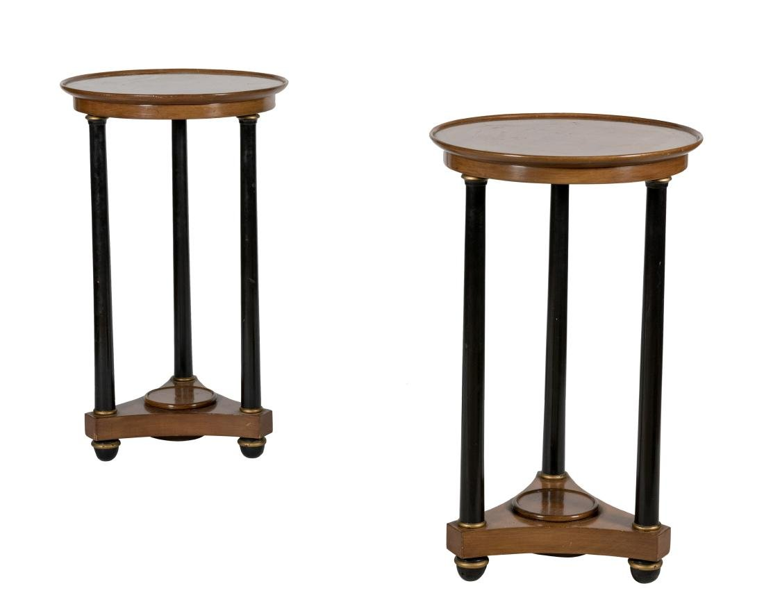 Maitland Smith Empire Style End Tables - Pair