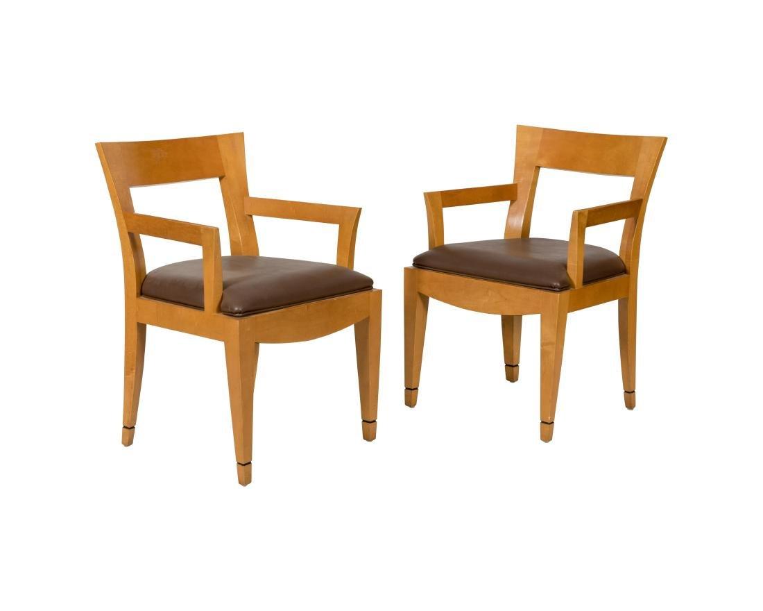 Donghia Arm Chairs - Pair