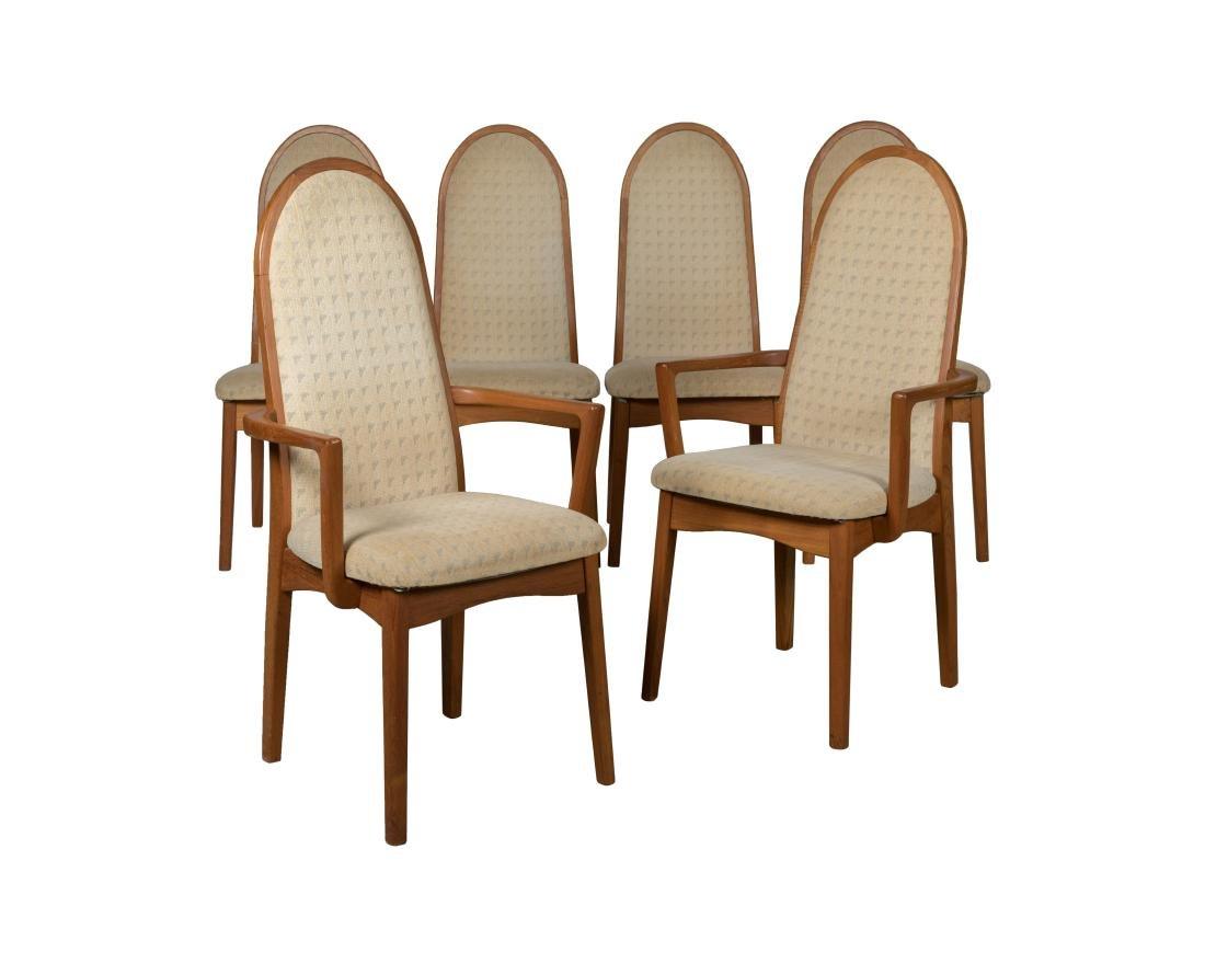 Benny Linden Teak Dining Chairs - Six
