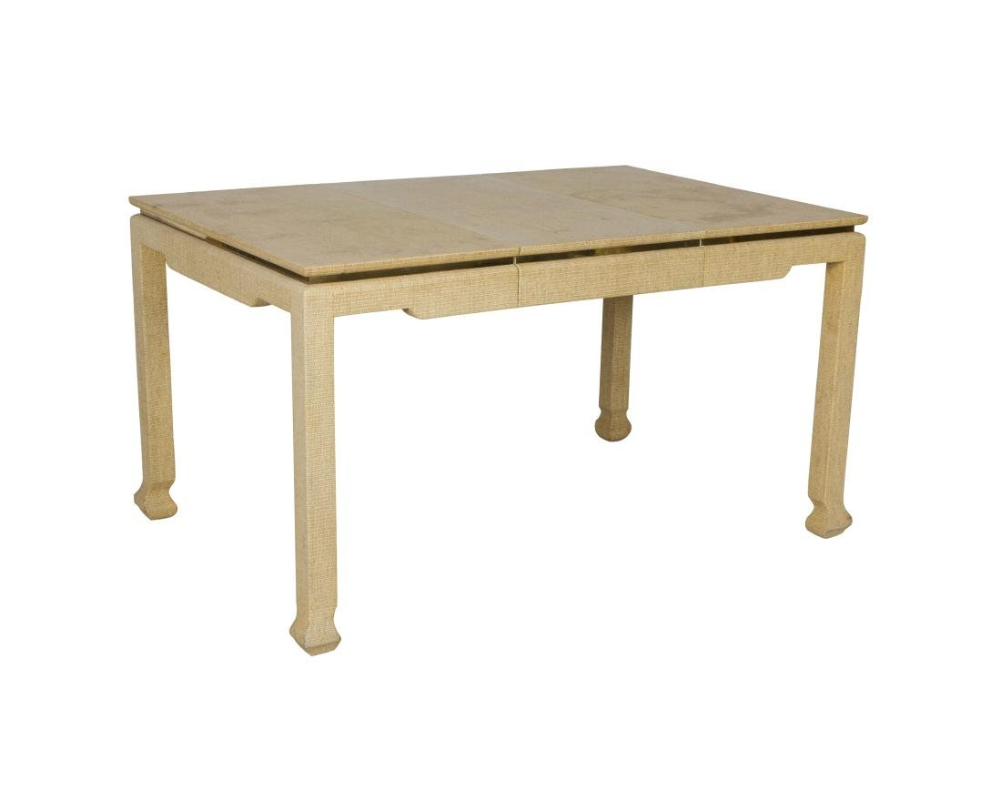 Springer Style Raffia and Brass Table