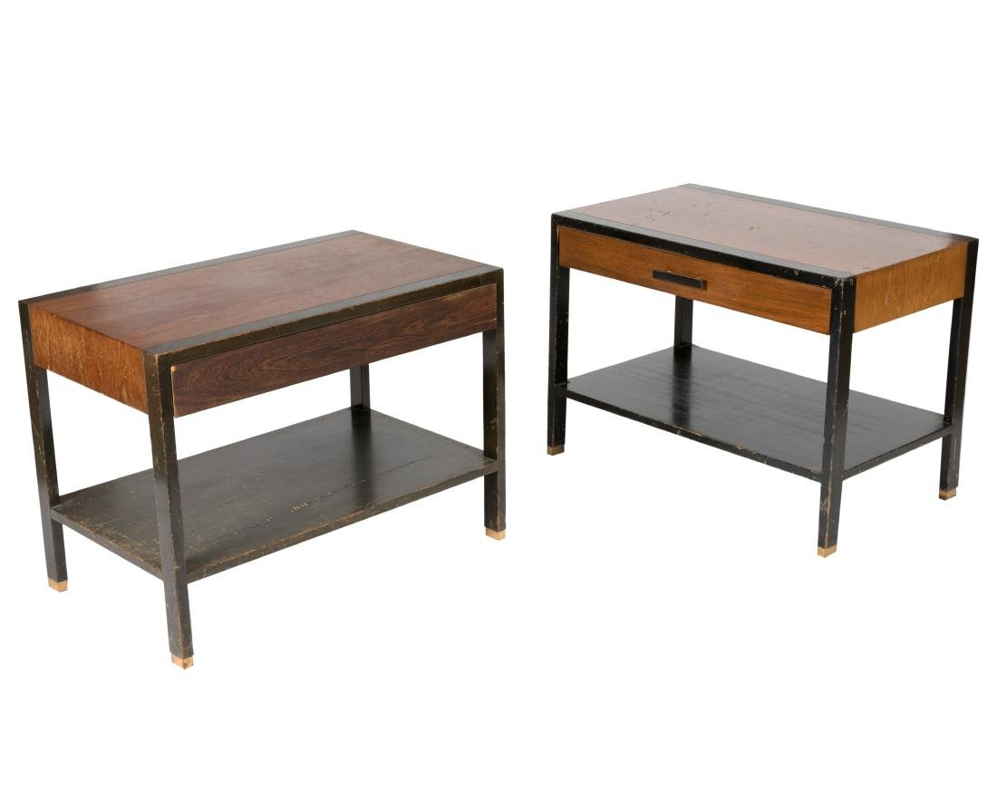 Harvey Probber Rosewood End Tables - Pair - Signed