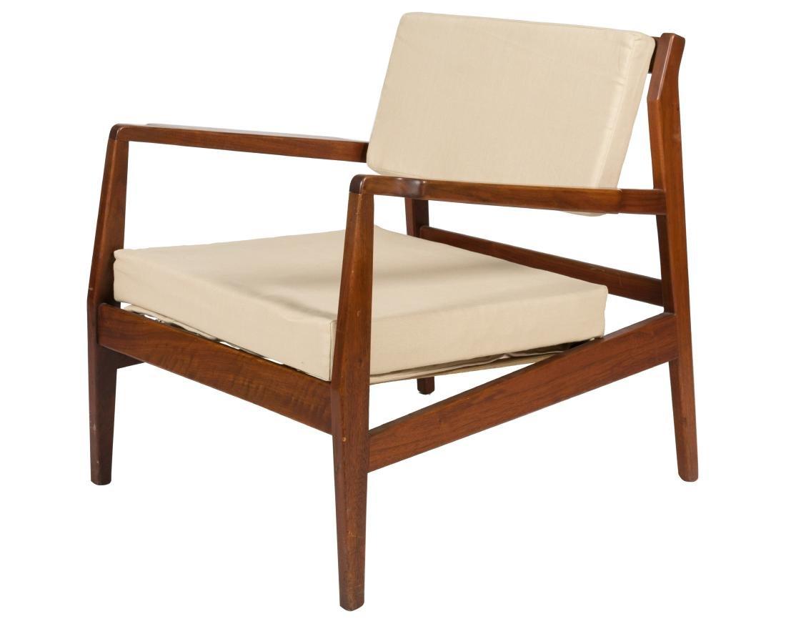 Jens Risom Walnut Arm Chair - Signed