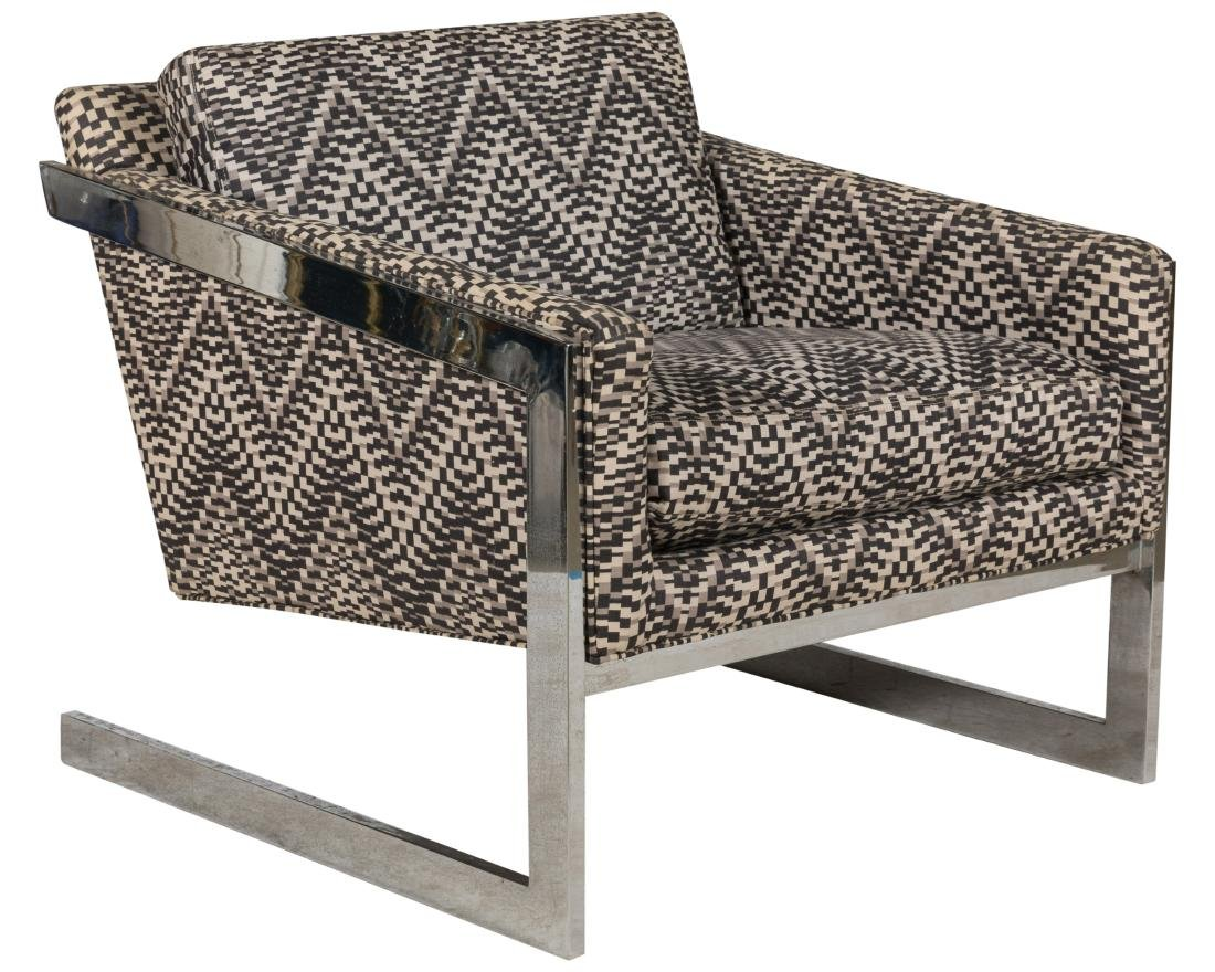Milo Baughman Cantilevered Lounge Chair