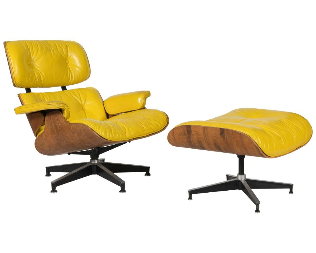 Early Eames Lounge Chair and Ottoman - Signed