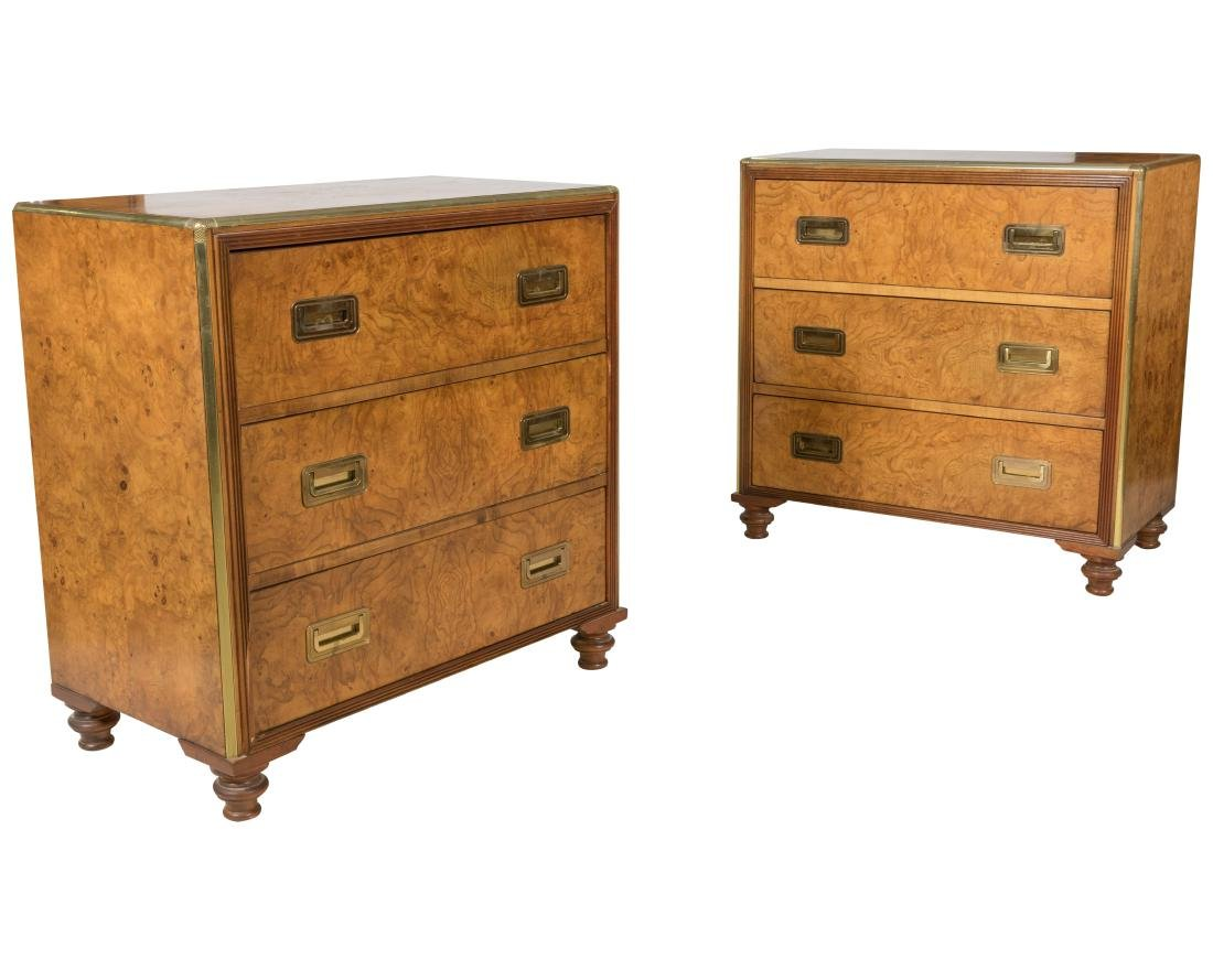Baker Burl Campaign Chests - Pair