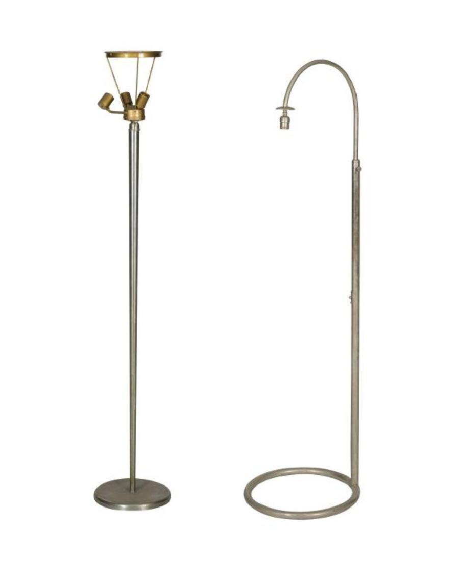 Nickel Floor Lamp and French Floor Lamp