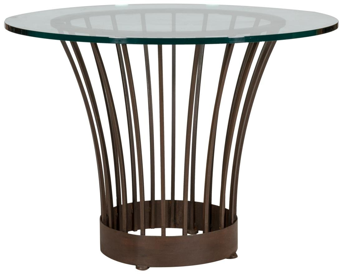 Iron and Glass Center Table
