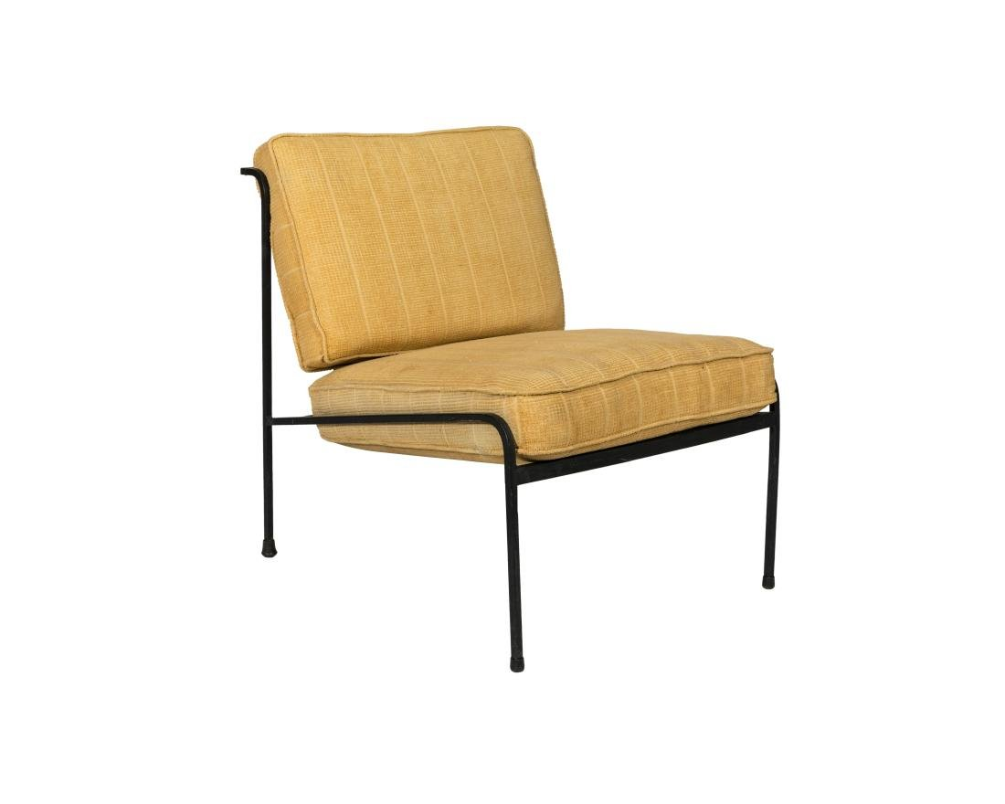 George Nelson Arbuck Style Iron Chair