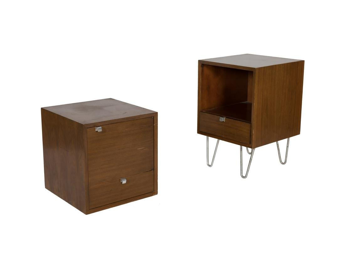 George Nelson Pair Nightstand Cabinets