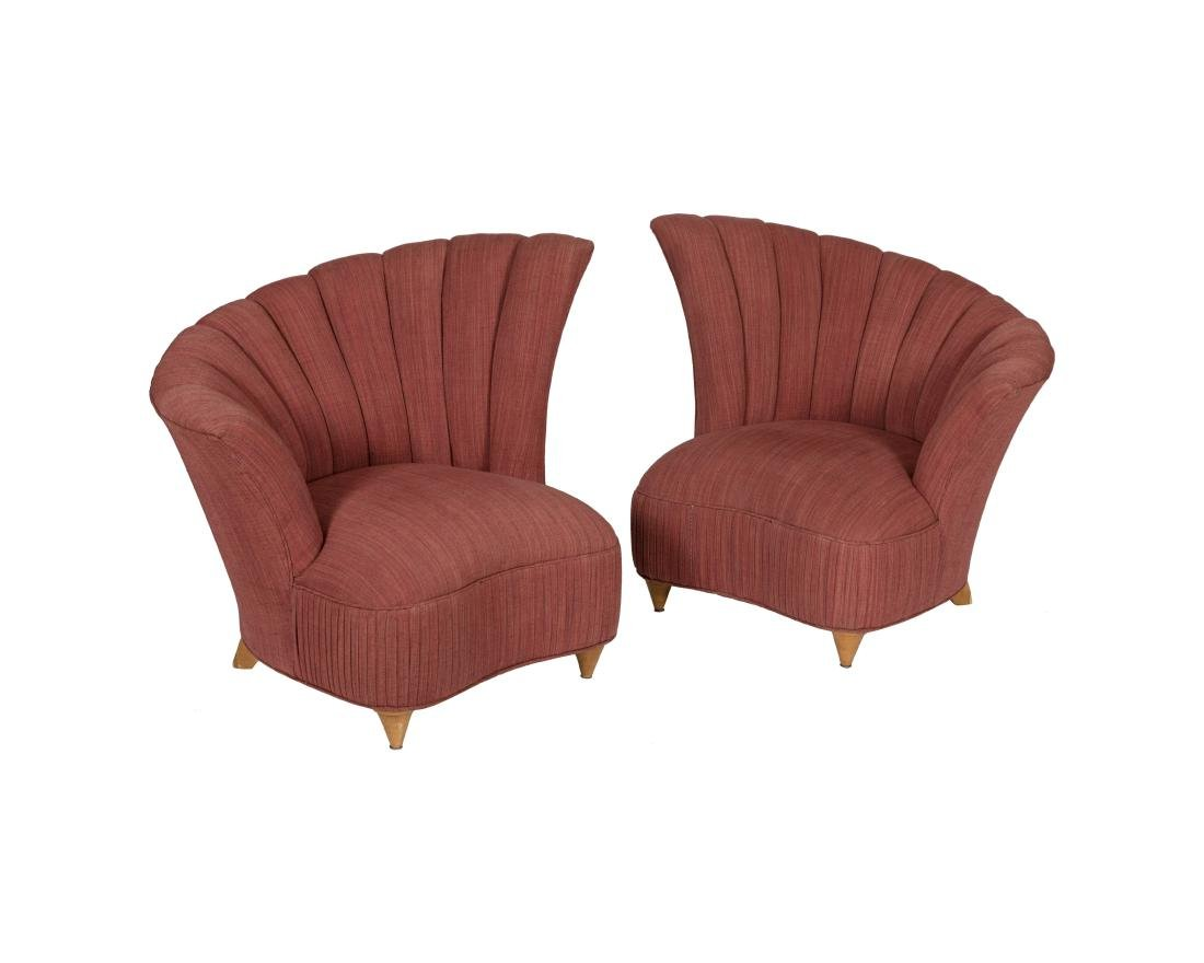 Pair Nautilus Style Parlor Chairs