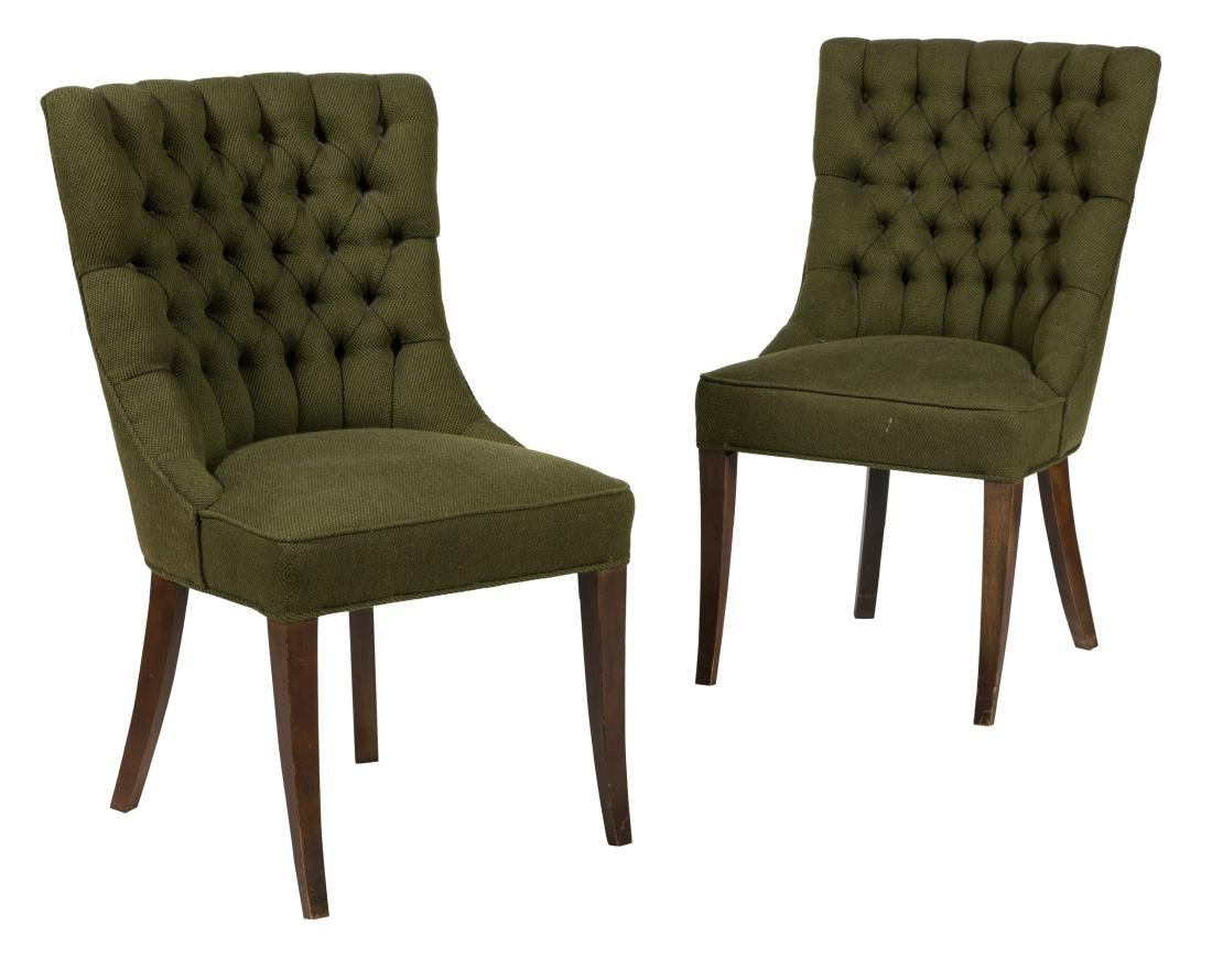 John Stuart Tufted Accent Chairs - Pair