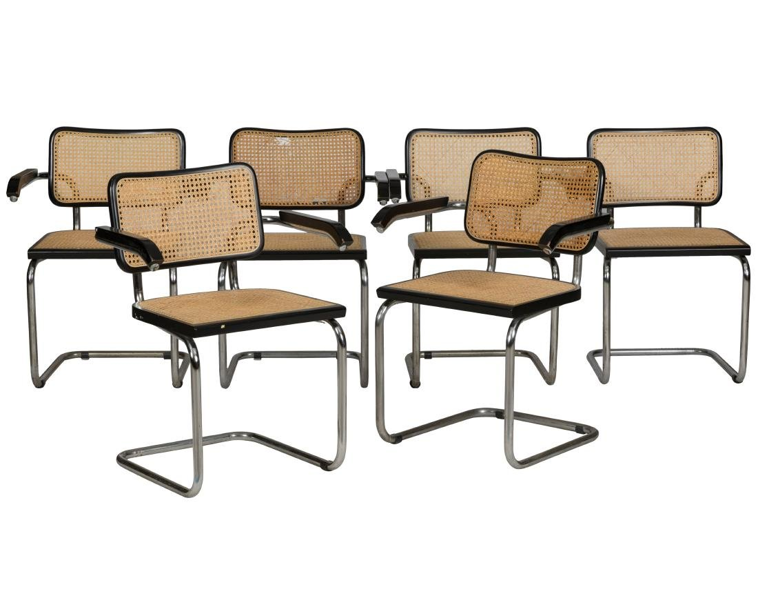 Marcel Breuer Arm Chairs - Six