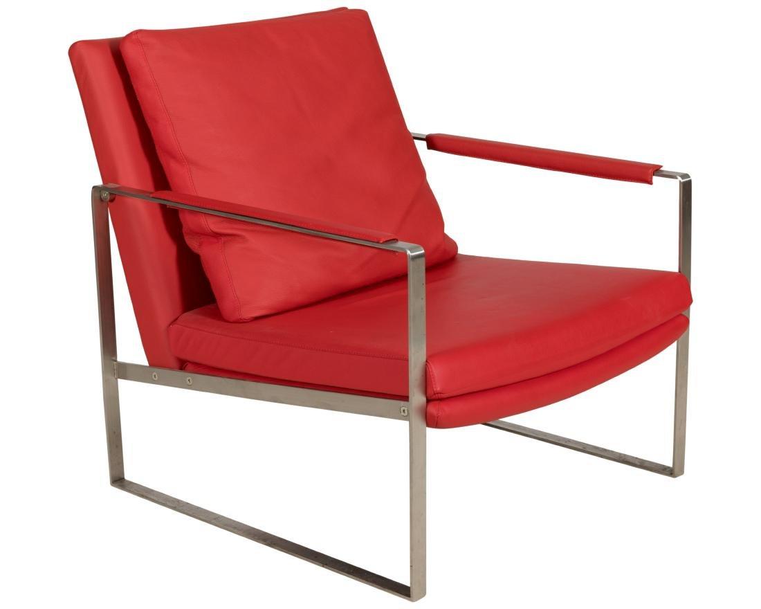 Milo Baughman Chrome Arm Chair