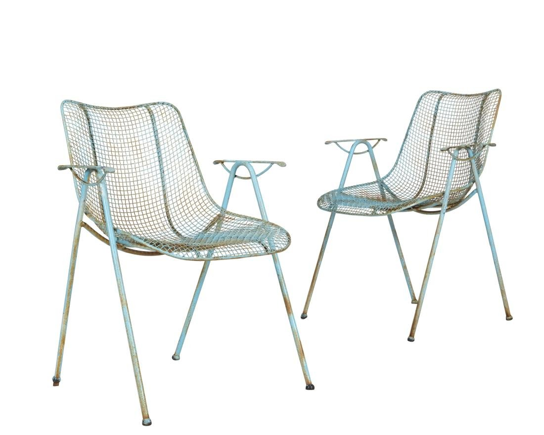 Russell Woodard Arm Chairs - Pair