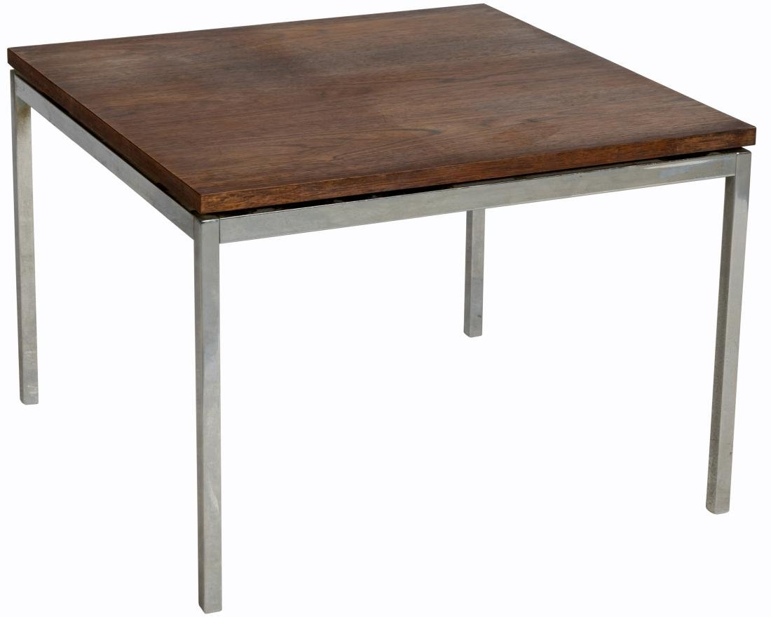 Florence Knoll Rosewood and Chrome Table