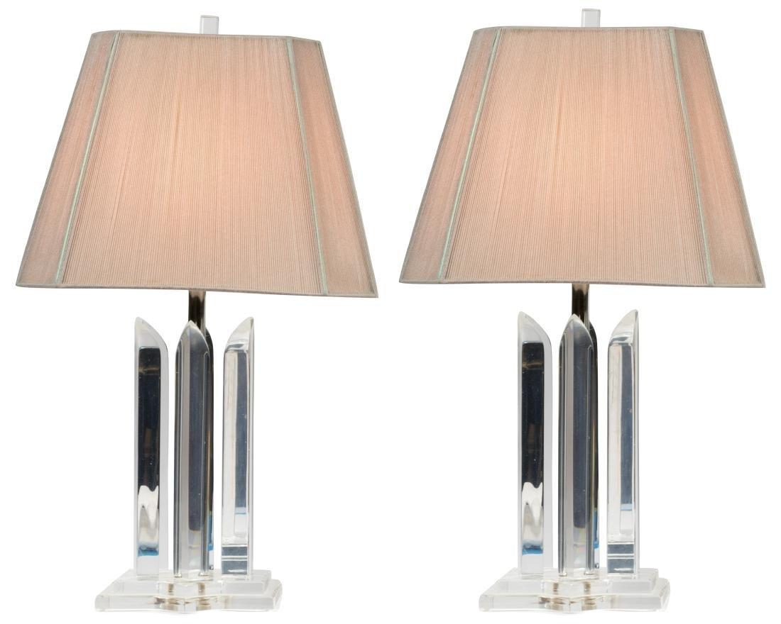 Van Teal Lucite Lamp - Signed