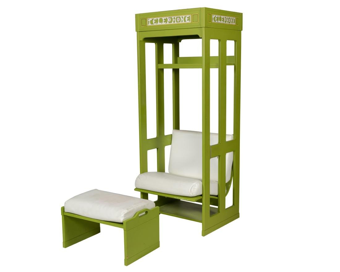 Tomlinson Telephone Booth Chair and Ottoman