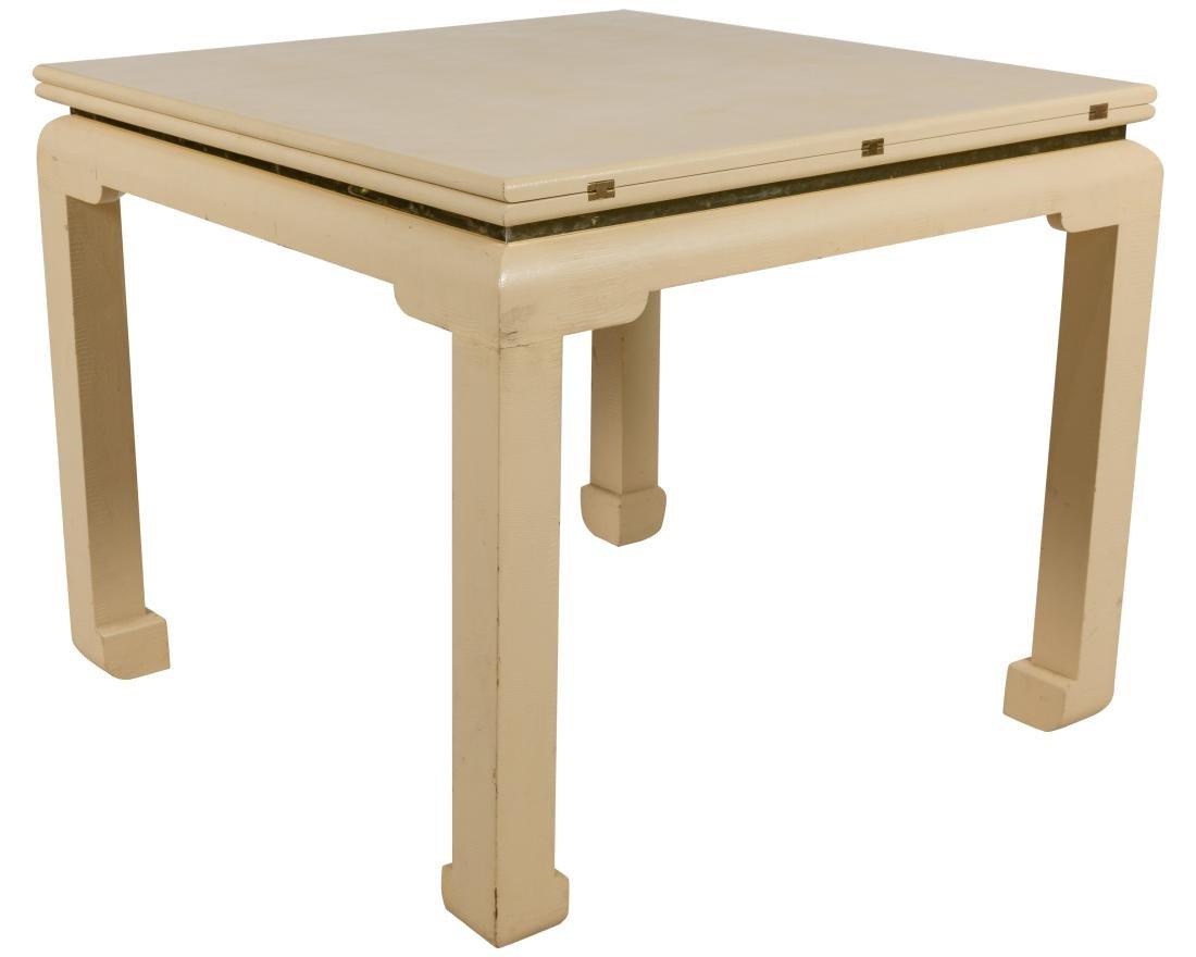Flip Top Game Table - Manner of Karl Springer - 2