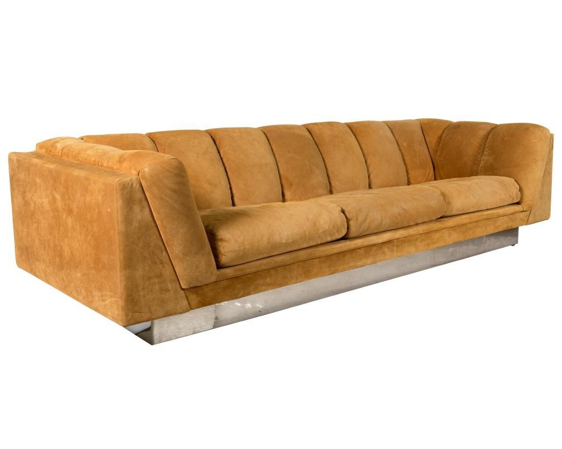 Milo Baughman Plinth Sofa
