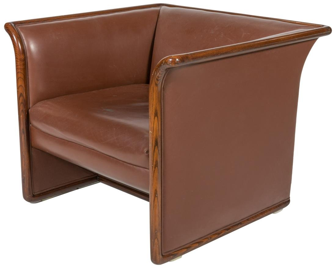 Ward Bennett for Brickel - Leather Lounge