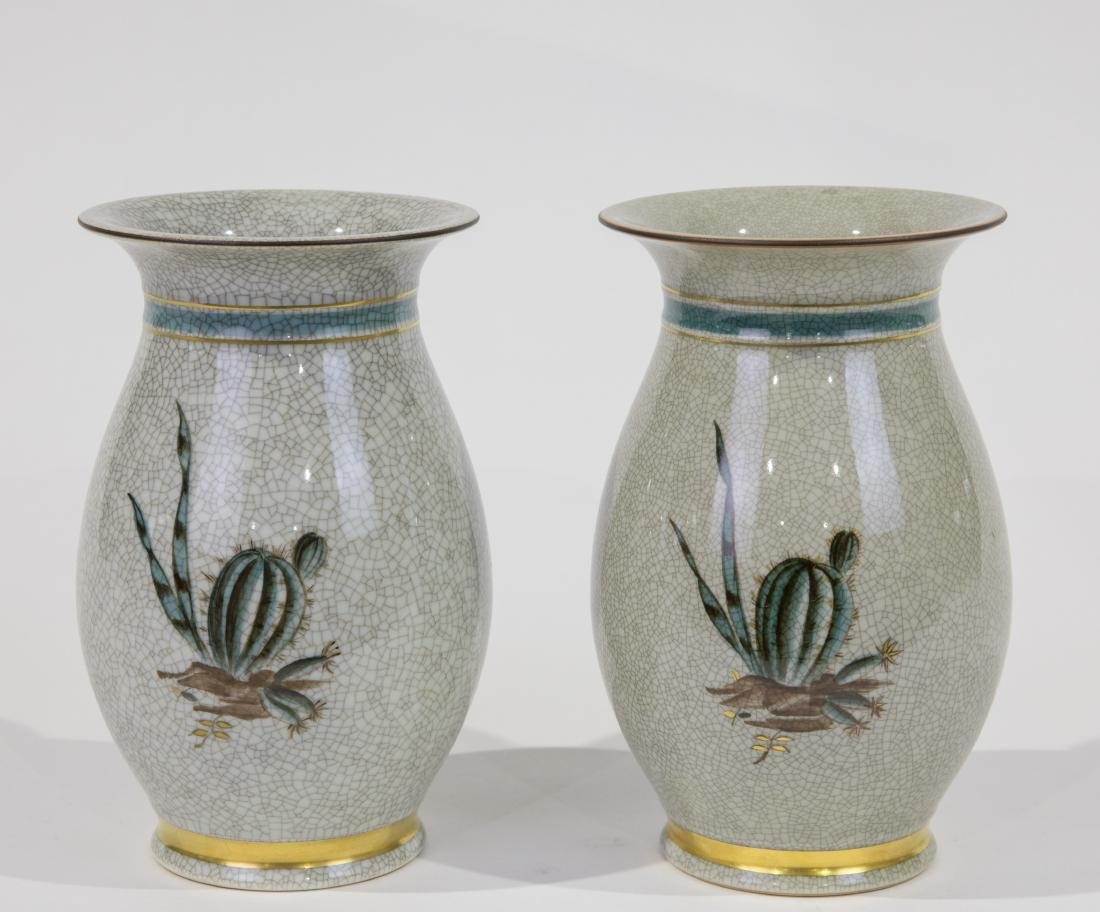 Royal Copenhagen Porcelain Vases - Pair