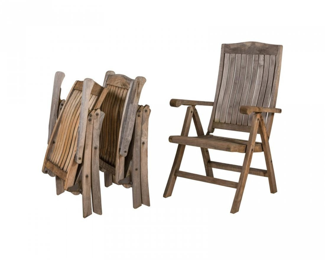 Eight Teak Patio Chairs - 3