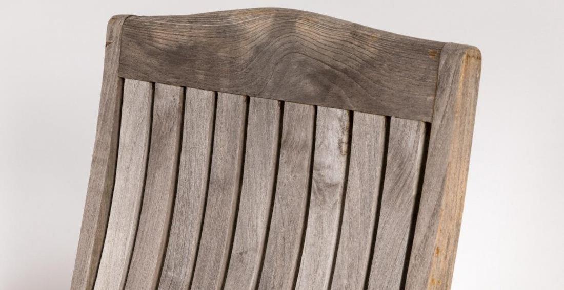 Eight Teak Patio Chairs - 5