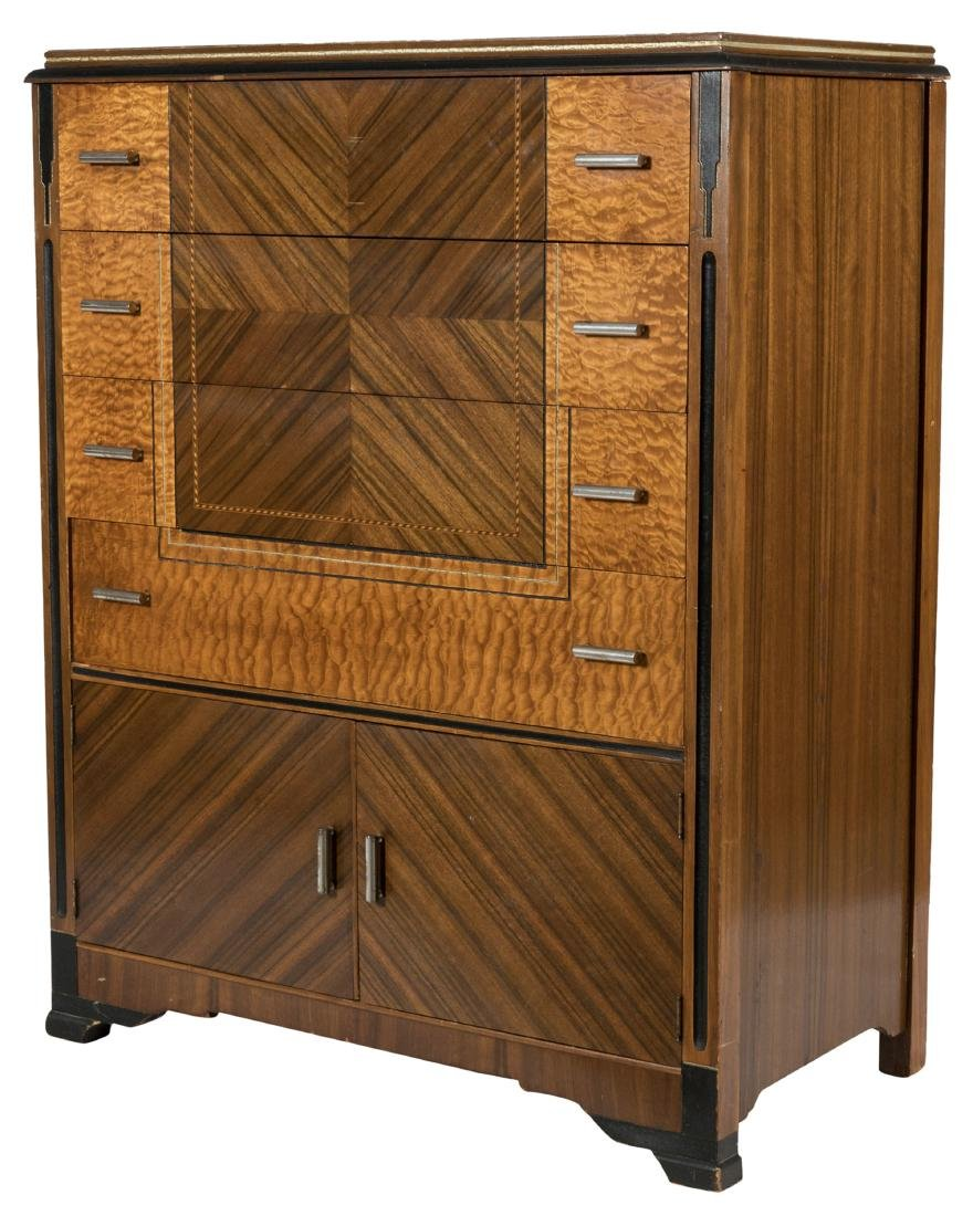 Art Deco Streamline High Chest