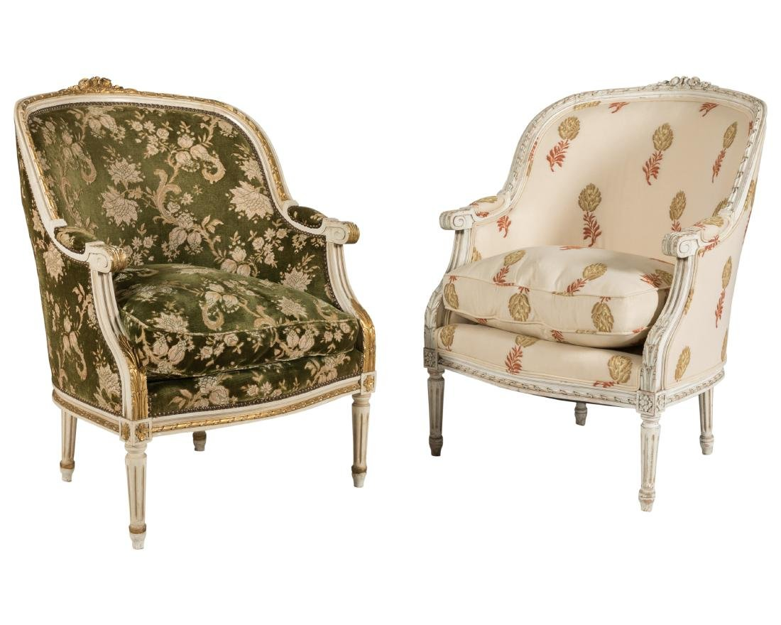 French Bergere Chairs - Pair