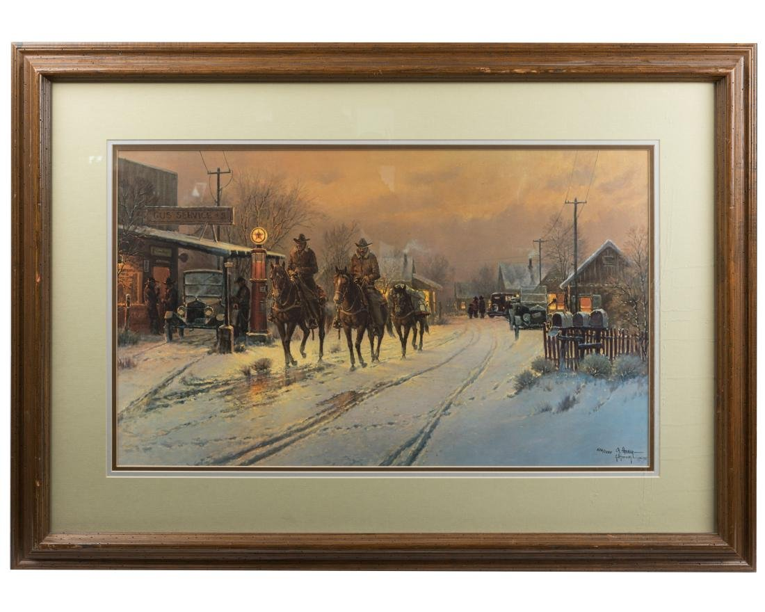 "Gerald Harvey - ""Only Working Horseback"" - Print"