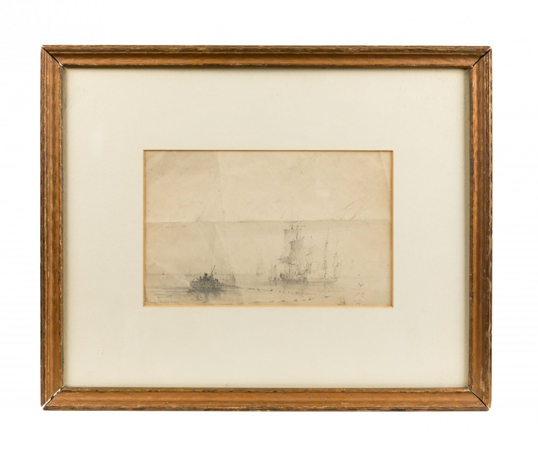 Edward Moran Nautical Sketch