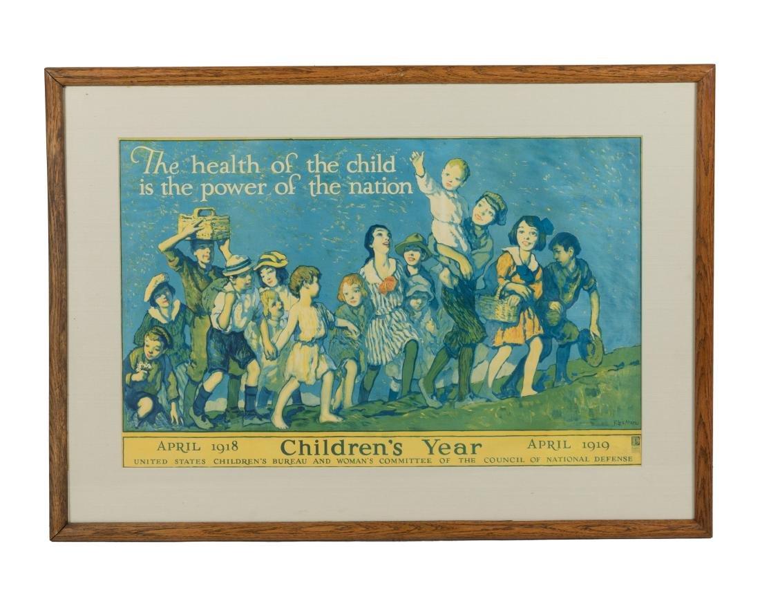 "WWI Propaganda Poster - ""Children's Year"" - c 1918"