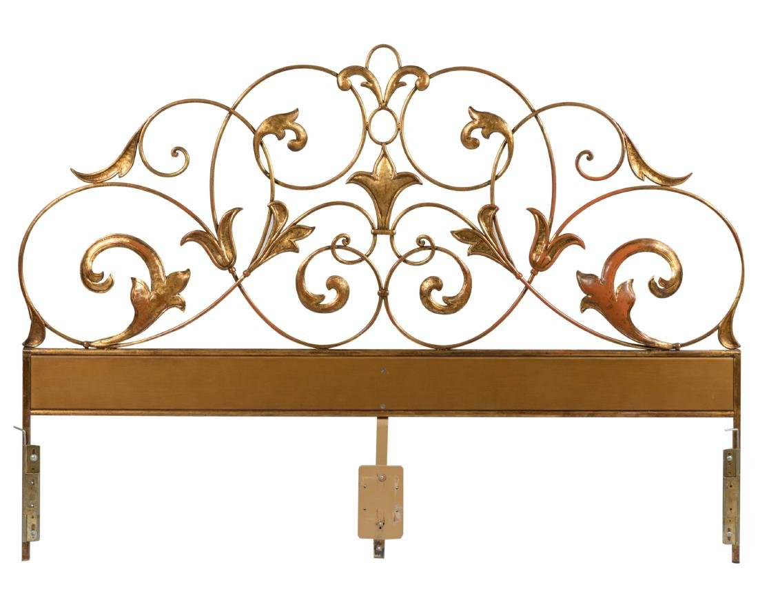 Ornate Gilt Iron King Size Headboard