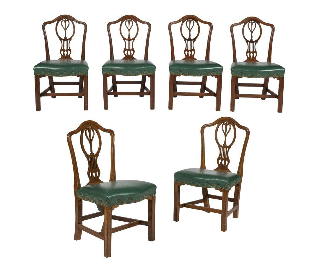Antique Mahogany Dining Chairs - Six
