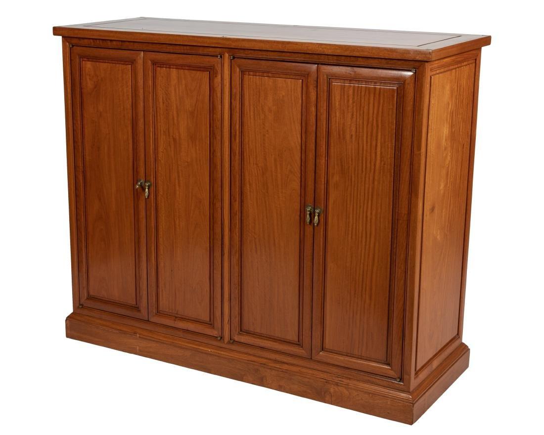 Oriental Mahogany Four Door Cabinet