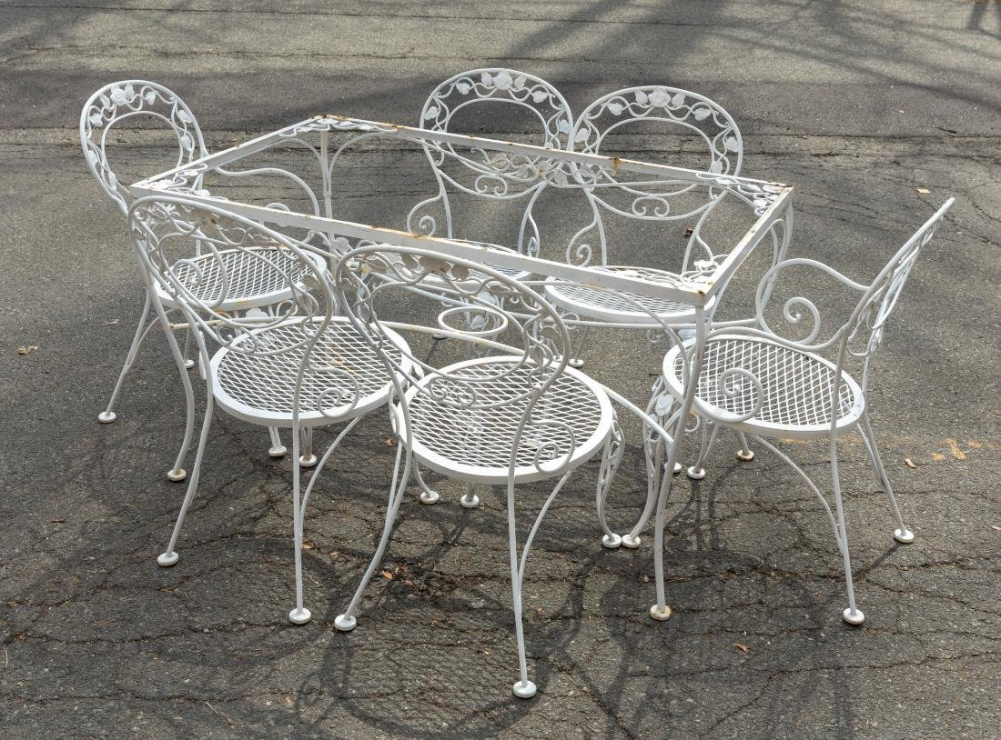 Wrought Iron Table and 6 Chairs